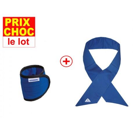 Lot promo foulard Deluxe + bracelets rafraîchissants Hyperkewl