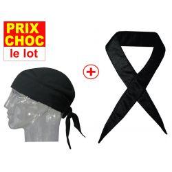 Lot promo bandana + foulard rafraîchissants Hyperkewl - noirs