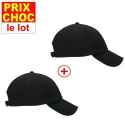 Lot promo 2 casquettes rafraîchissants Hyperkewl - noirs
