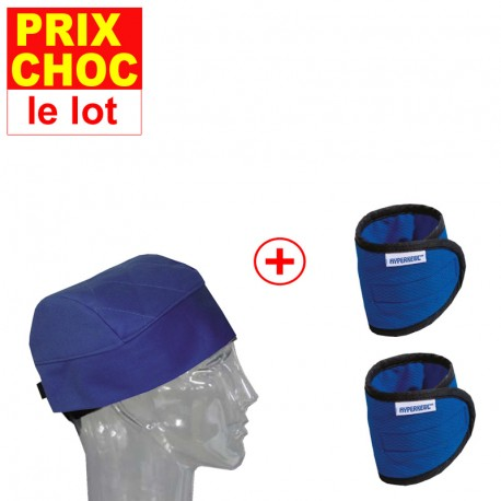 Lot promo bonnet + bracelets rafraîchissants Hyperkewl