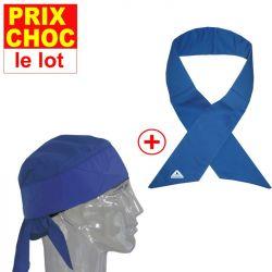 Lot promo bandana + foulard Deluxe rafraîchissants Hyperkewl - bleus