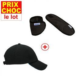 Lot promo casquette Aerochill  + bracelets rafraîchissants Hyperkewl noirs