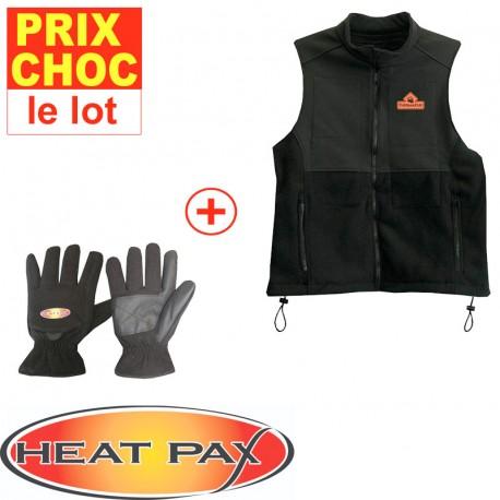Veste + gants réchauffants Heatpax