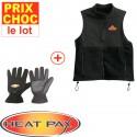 Veste + gants chauffants