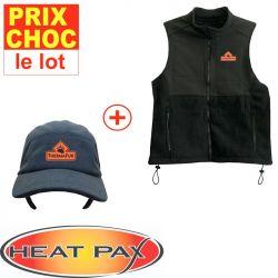 Veste + casquette réchauffantes Heatpax