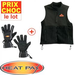 Veste + gants Sport réchauffants Heatpax