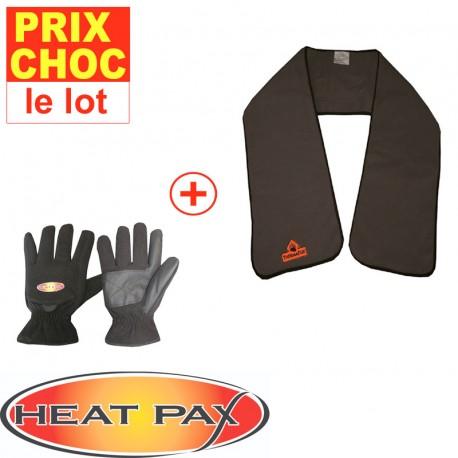 Echarpe + gants réchauffants Heatpax