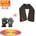 Echarpe + gants chauffants