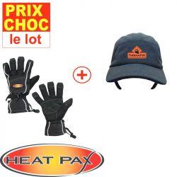 Casquette + gants Sport réchauffants Heatpax