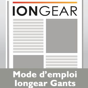 Mode emploi Iongear Gants